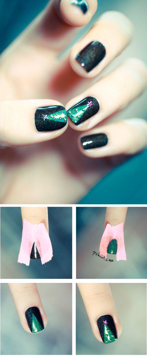 Ёлка на ногтях