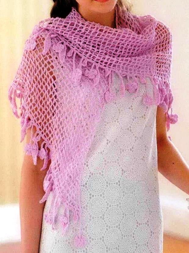 Красивое вязаное изделие