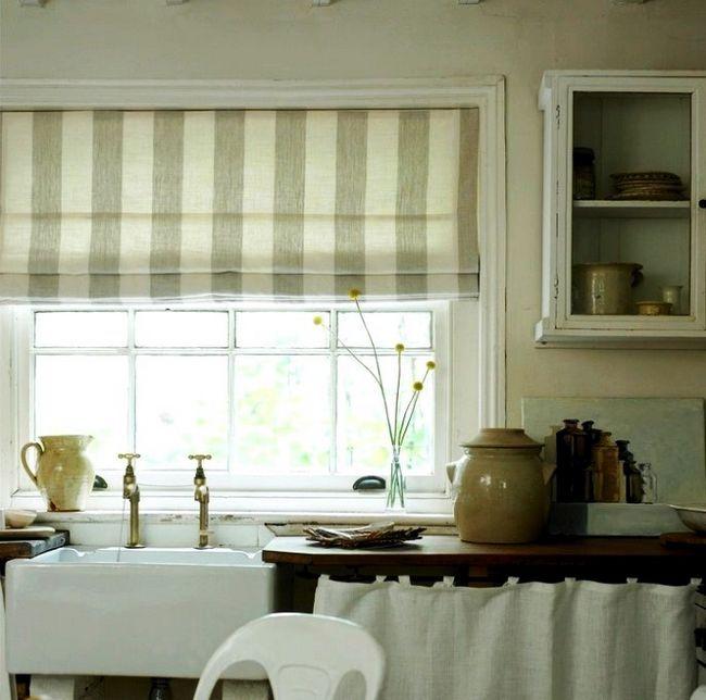 Берем и делаем — шторы на кухню своими руками