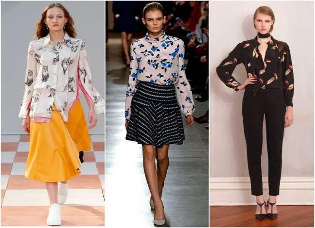Блузки и рубашки осень-зима 2015-2016 (фото новинок)