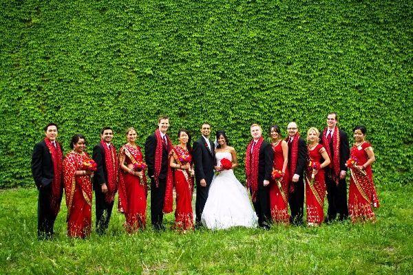 Яркая свадьба