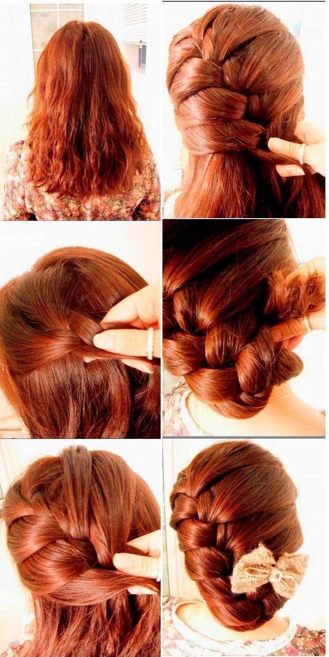 Коса для средних волос