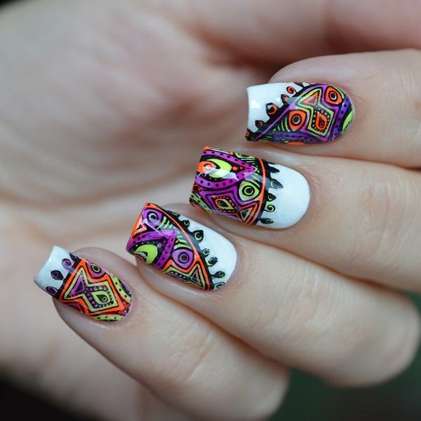 Делаем цветной стемпинг для ногтей