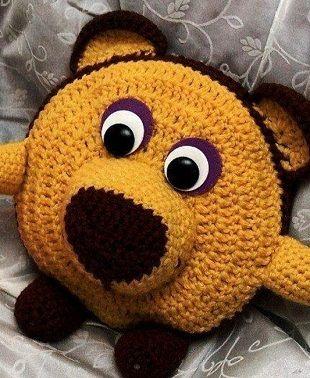 Детская подушка крючком
