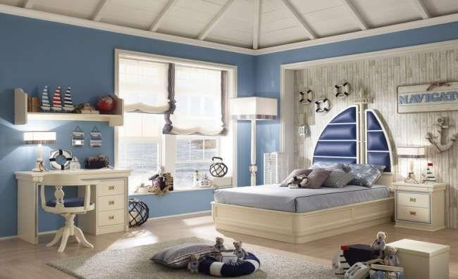 Детские комнаты в морском стиле: фото и рекомендации