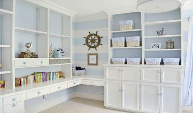 Детские комнаты в морском стиле: особенности, фото