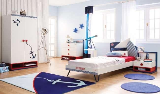 Детские комнаты в морском стиле: фото