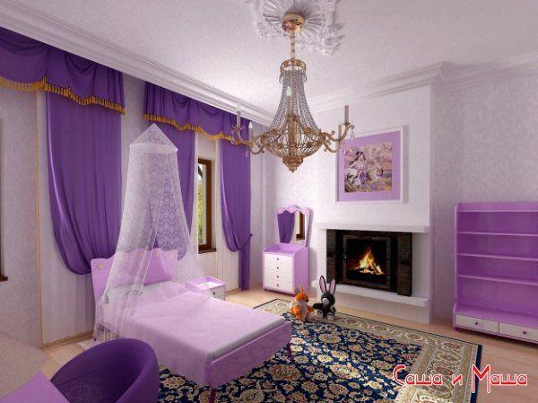 Дизайн интерьера комнаты для девочек
