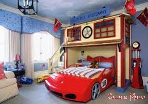 Дизайн интерьера комнаты для мальчика