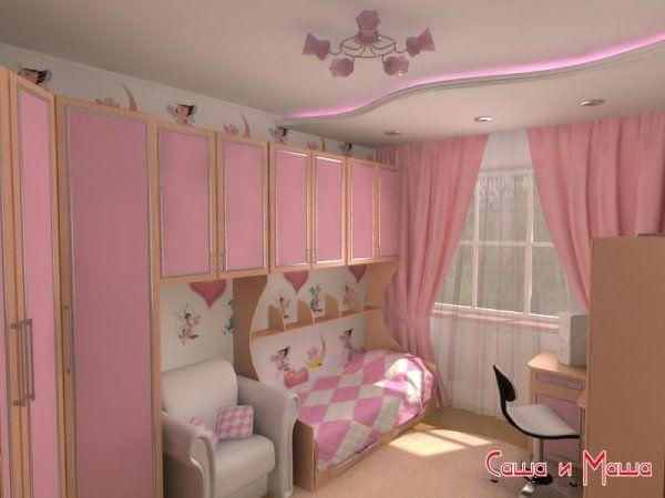 Дизайн детской для девочек