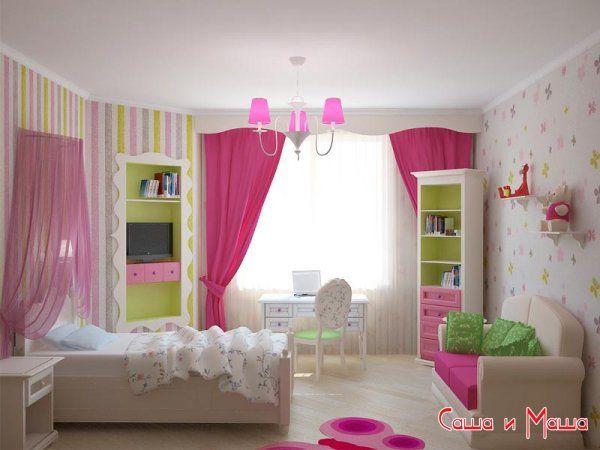 Дизайн интерьера детской комнаты для девочек