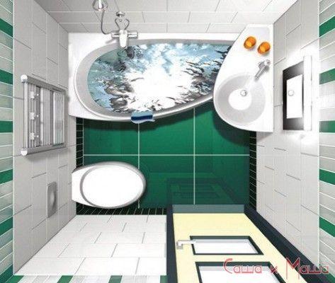 Интерьер маленькой ванной советы