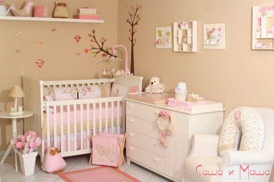 Дизайн комнаты для новорожденного фото