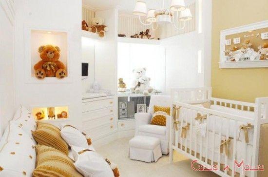 Дизайн комнатки для новорожденного малыша