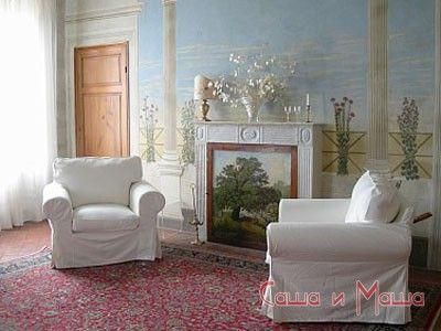 фреска в маленькой гостинной