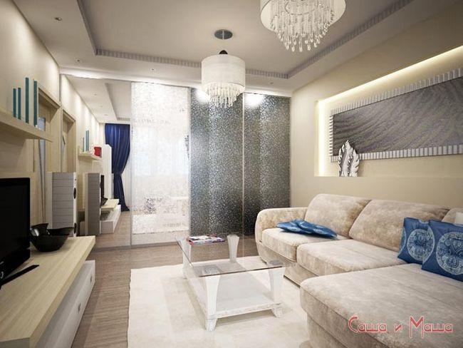 угловой диван в маленькую гостинную