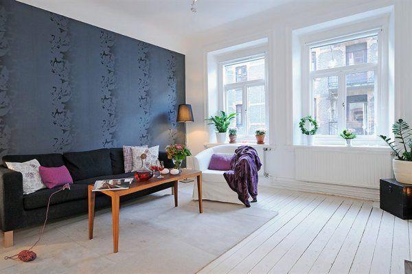 скандинавский интерьер гостинная