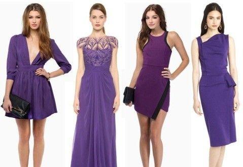 Оттенки платьев