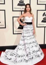 Платье с нотным принтом