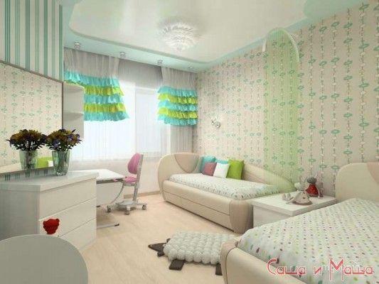 дизайна детской комнаты для двух девочек фото и советы
