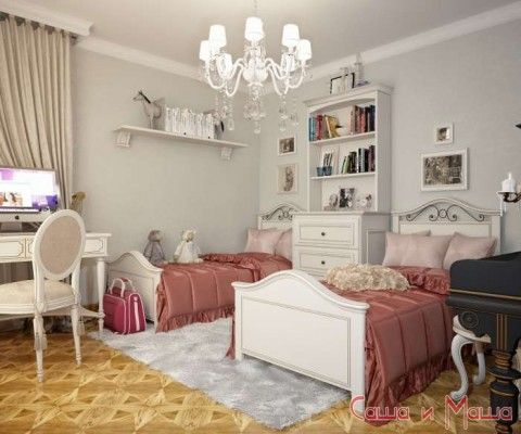 Идеи дизайна детской комнаты для двух девочек фото