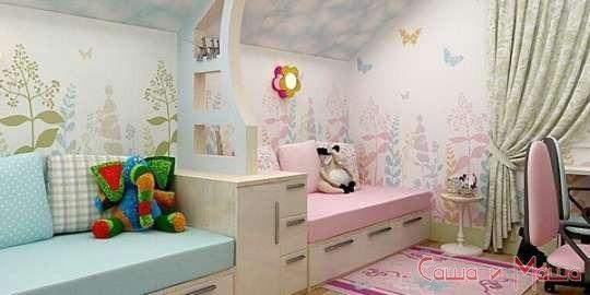 фото идеи дизайна детской комнаты для девочек