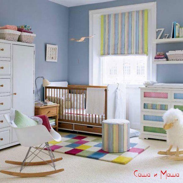 Интерьер маленькой детской комнаты (фото)