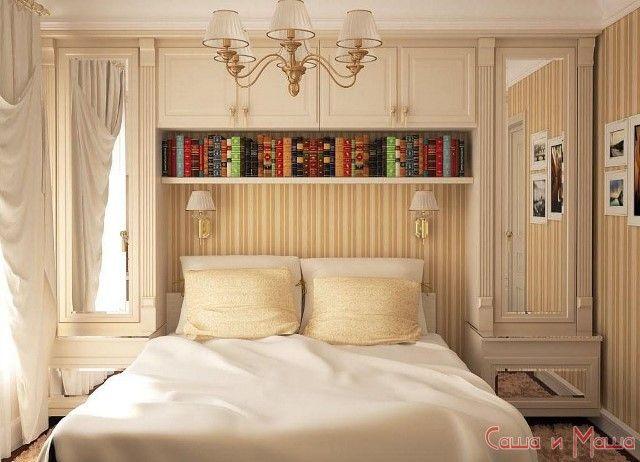 спальня в маленькой комнате фото