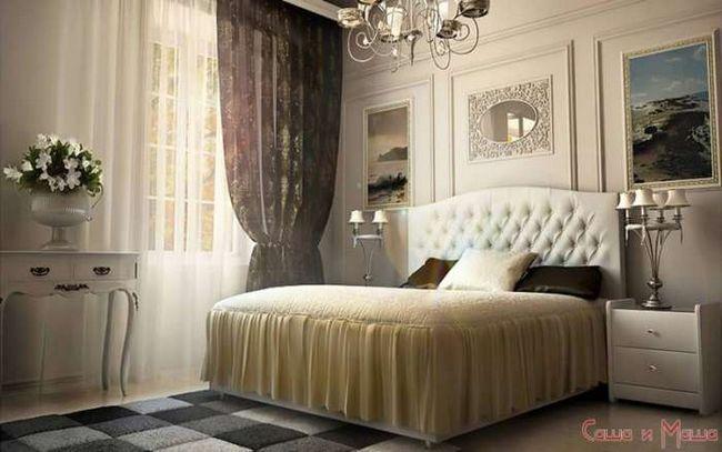 Интерьер маленькой спальни от дизайнера