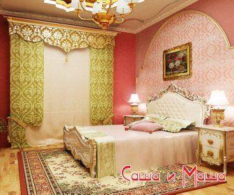 красивый восточный интерьер спальни фото