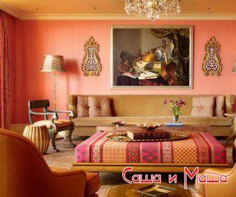 красивый восточный интерьер гостинной фото