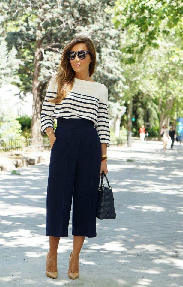 Юбка-брюки: кому подходит, с чем носить