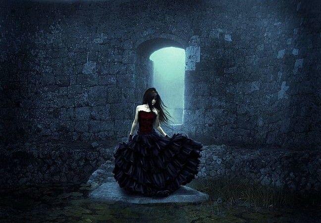 сон с черным платьем