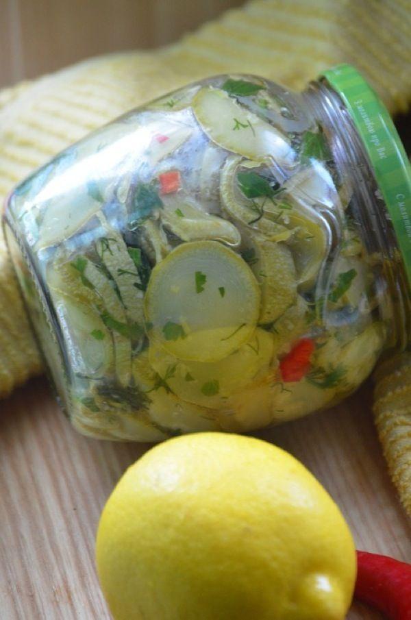 Кабачки в лимонном масле на зиму. Пошаговый рецепт