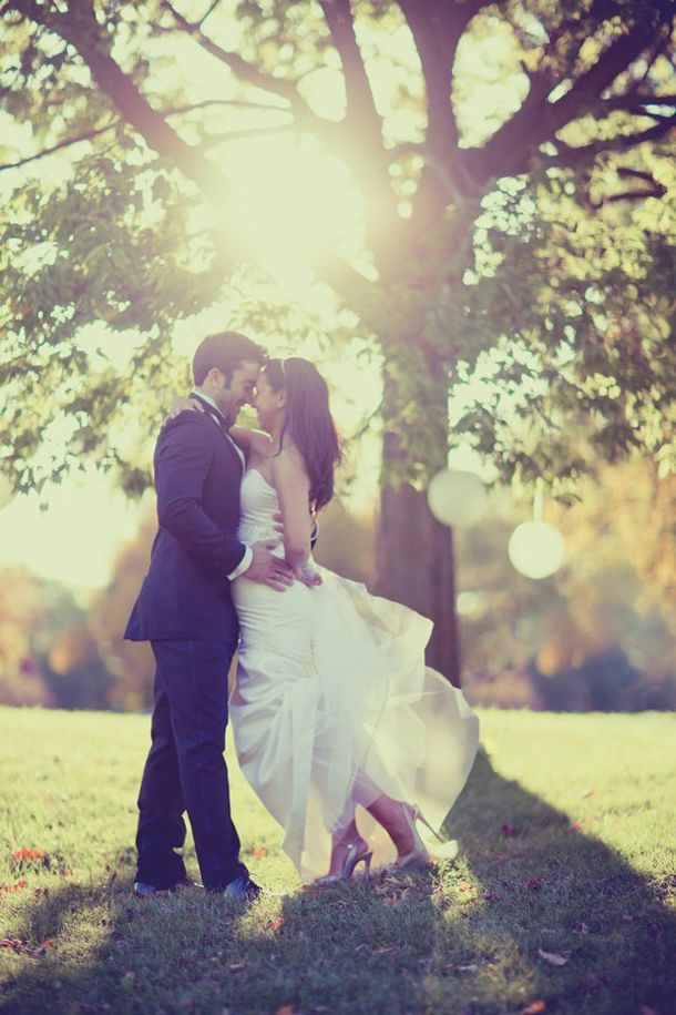 Жених и невеста под деревом