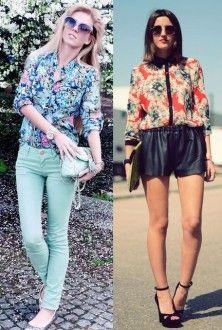 блузка в цветочек с чем надеть