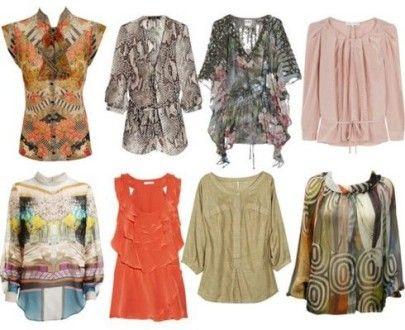 Фасоны и расцветки блузок