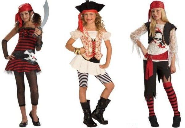 костюм для девлчки на пиратскую вечеринку