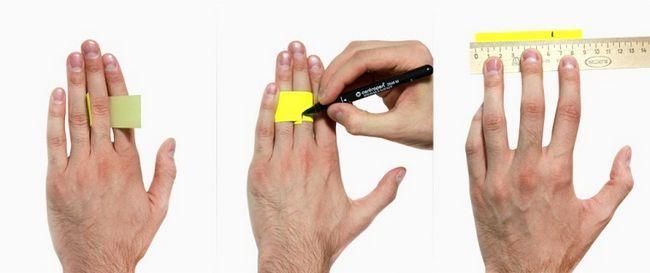 Измеряем окружность пальца