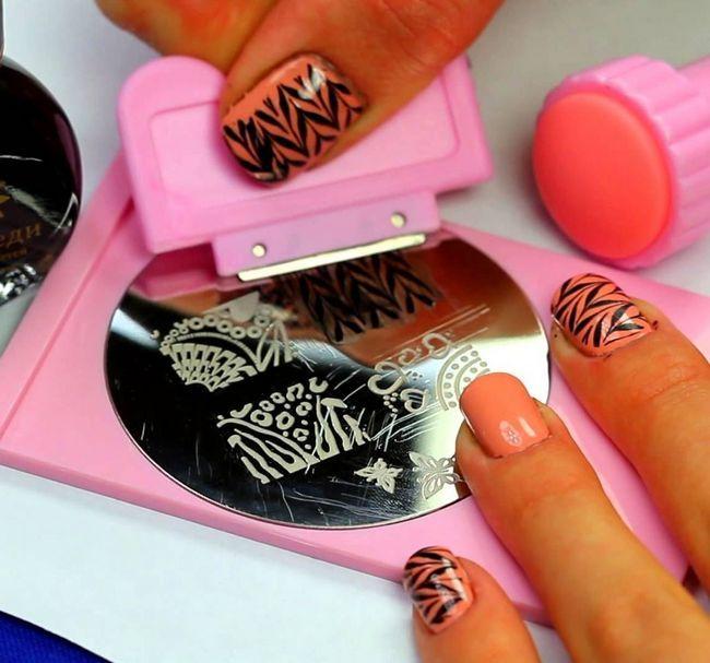 стемпинг ногтей в домашних условиях
