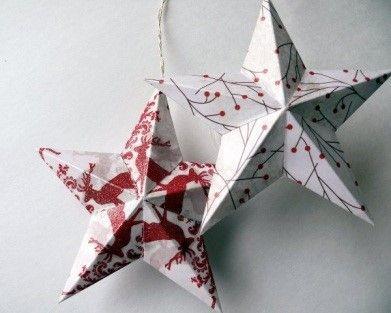 Как сделать объемную звездочку из бумаги