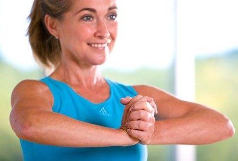 упражнение разводим локти