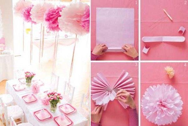 Как украсить комнату на день рождения своими руками фото