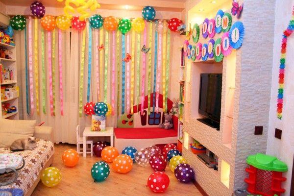 идеи как украсить комнату на день рождения своими руками