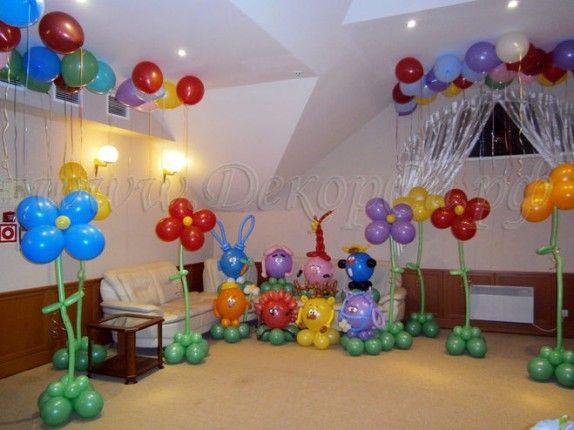 Как украсить комнату на день рождения шарами