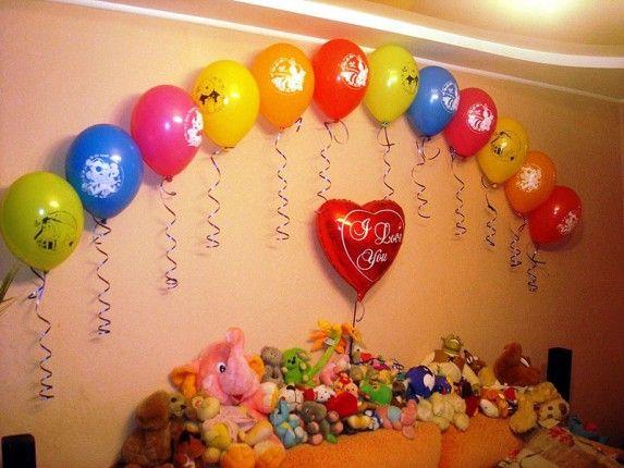 Как украсить комнату на день рождения шариками