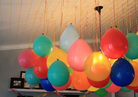 Как украсить комнату шарами на день рождения своими руками