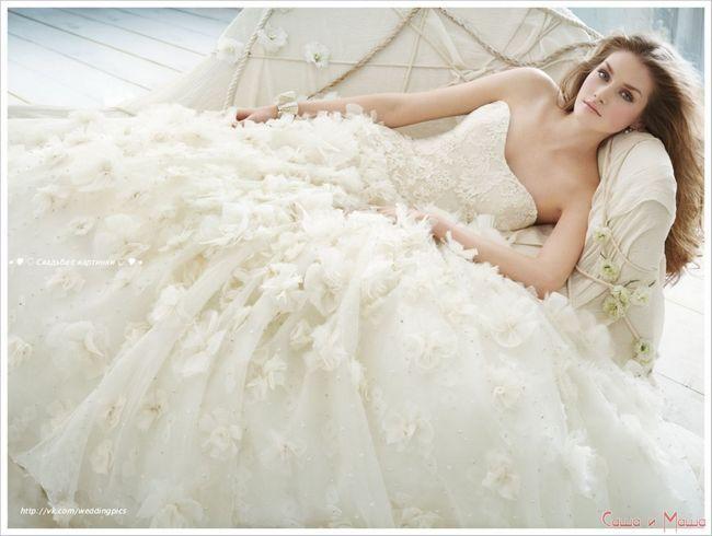 пышное свадебное платье шампань