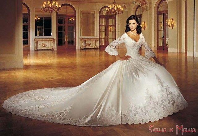 свадебное платье для брюнетки
