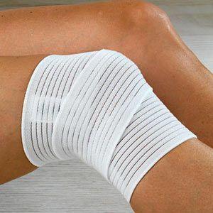 Перебинтованные колени